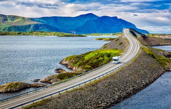 Atlantic Ocean Road Caravan car.