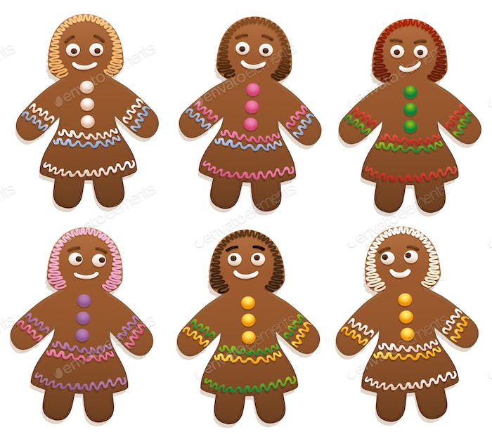 Female Gingerbread Women Group