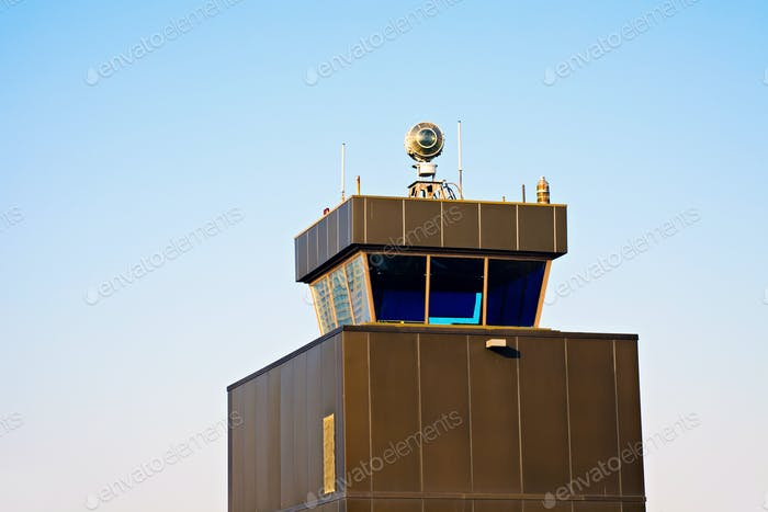 Control Tower - old airport in Chicago