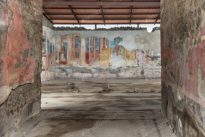 Antikes Fresko in Pompeji