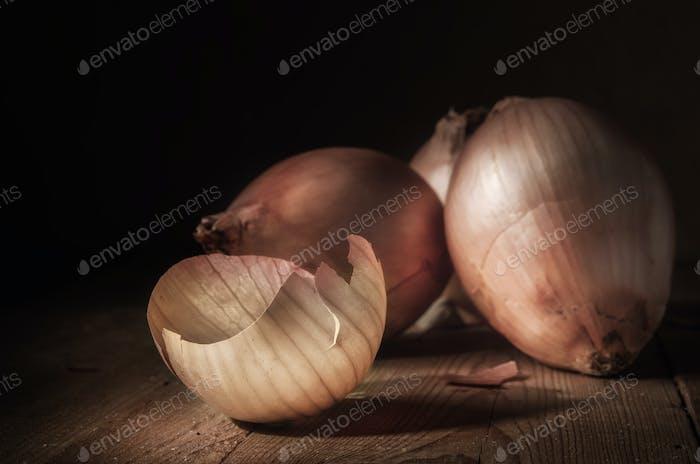 onions and peel