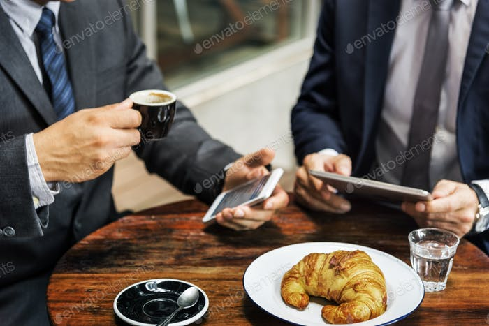 Business Men Meeting Tablet Concept