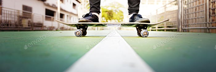 Skateboarder Lifestyle Style Sneaker Excercise Concept