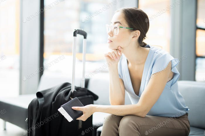 Waiting for airplane