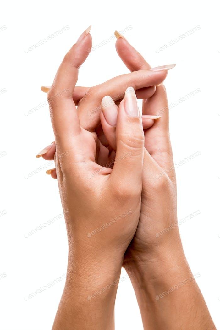 Schöne Frau Hände