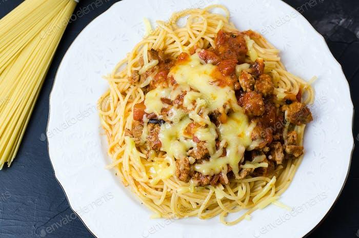 Italian spaghetti bolognese