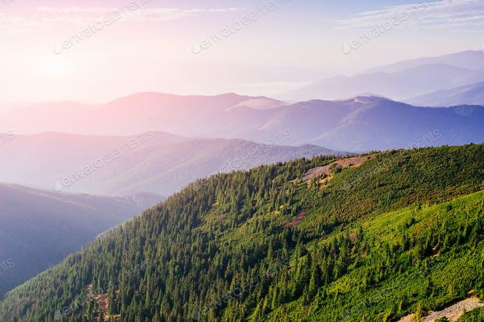 vistas en las montañas