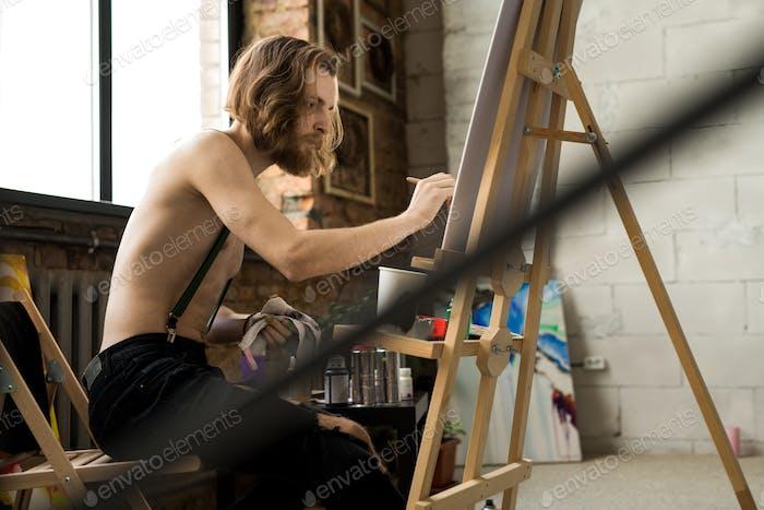 Male Artist in Studio