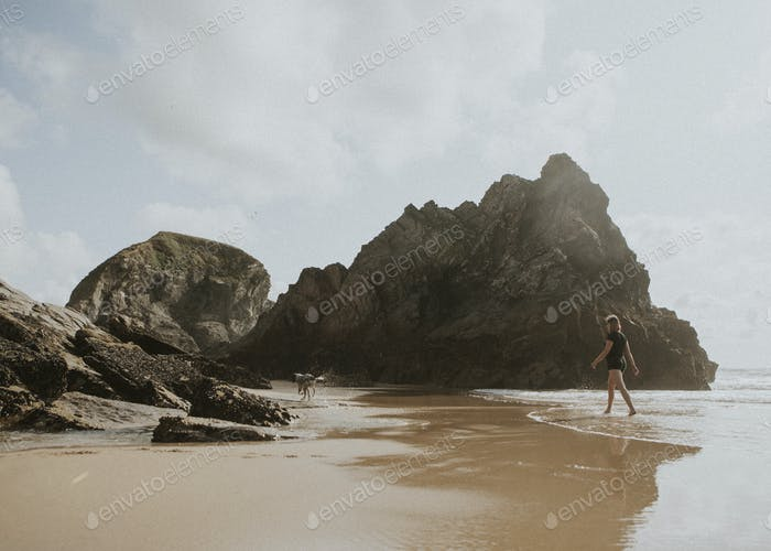 Newquay Beach in England
