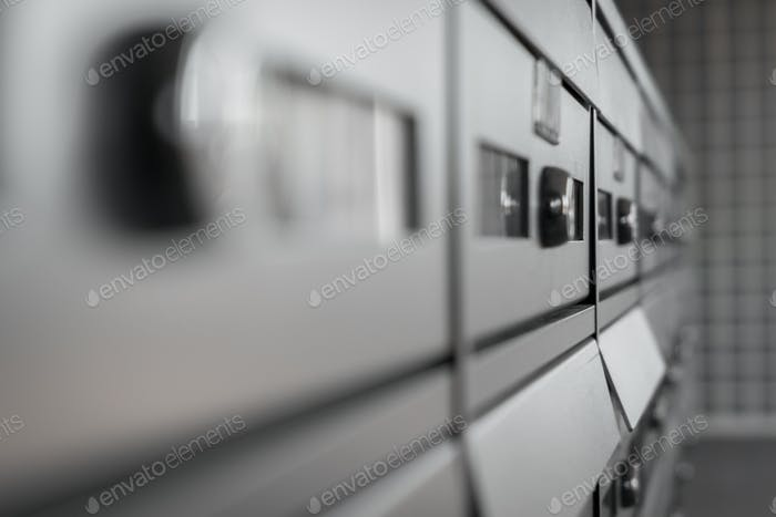 Modern metallic mailbox