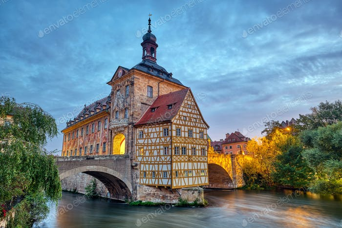 The famous Old Town Hall of Bamberg