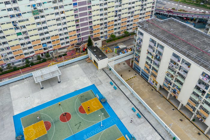 Choi Hung, Hong Kong 17. Mai 2019: Ansicht des Wohnviertels in Hongkong