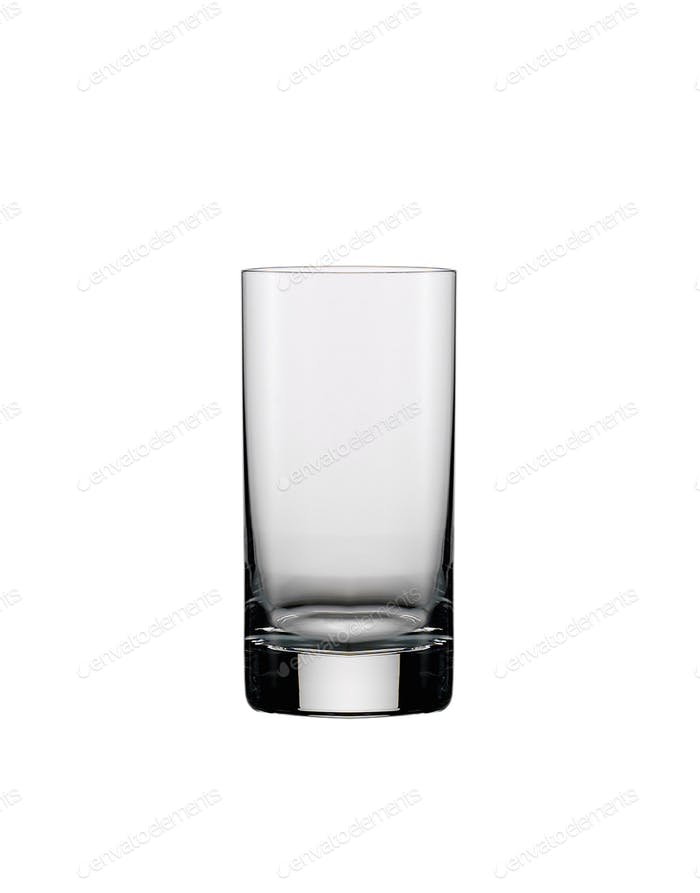 A glass of vodka on a white background