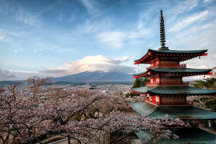 Chureito Pagoda overlooking Mt Fuji
