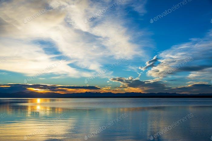 Yellowstone Lake Sunrse