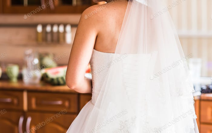 Beautiful bride indoors
