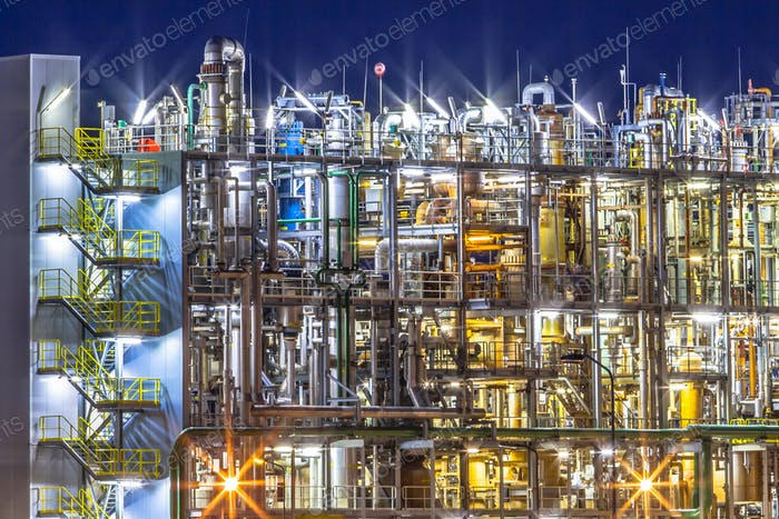 Industrial Chemical factory detail