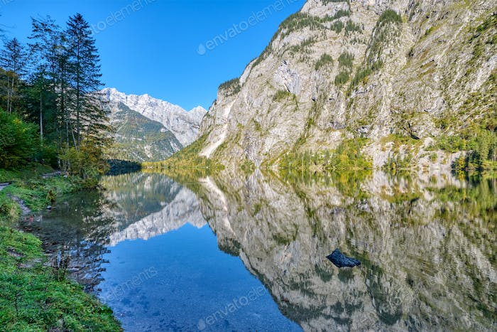 The lovely Obersee in the Bavarian Alps