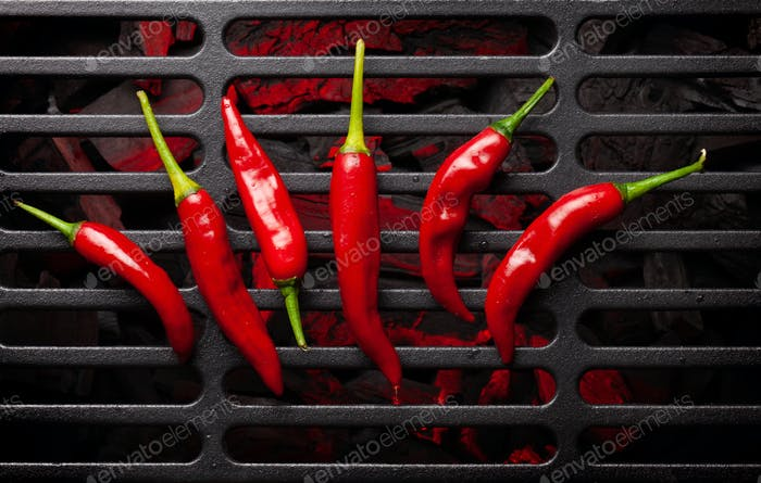 Heiße Chilischoten