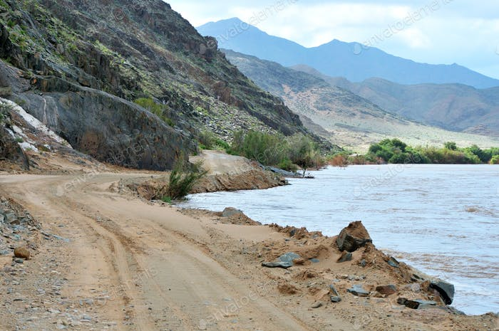 Scenic C13 Route in Namibia entlang des Orange River