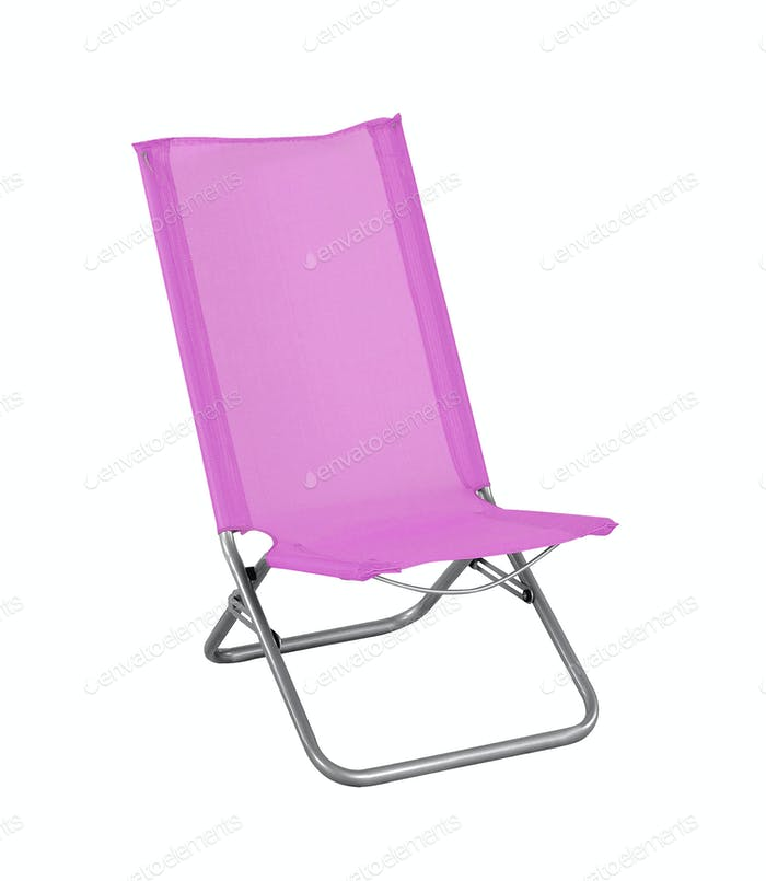 folding camp chair isolated on white background