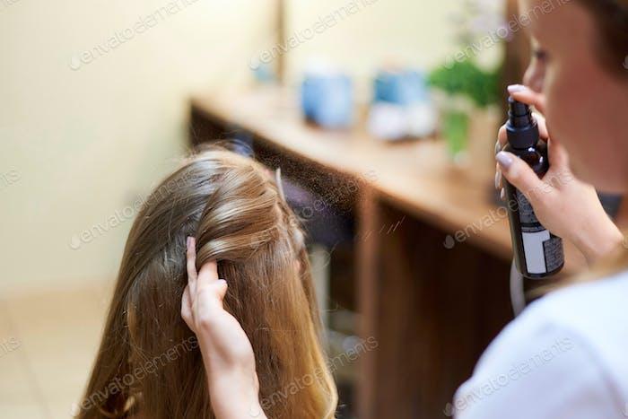 Proceso de peinado