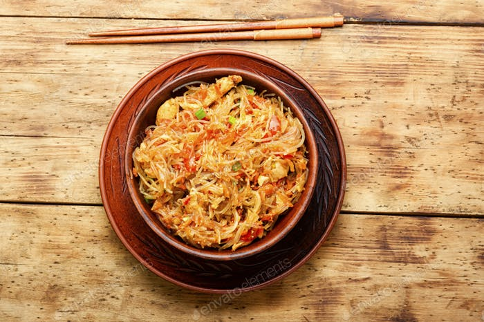 Funchoza or glass noodles