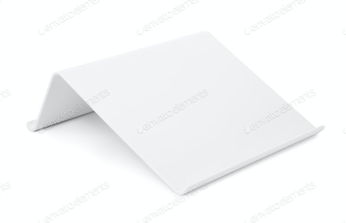 White plastic tablet stand