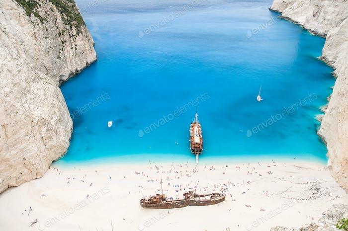 Famous Navagio beach, Zakynthos, Griechenland