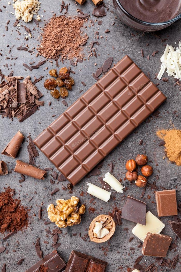 Köstliche und leckere Schokolade Hintergrund