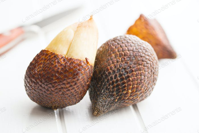 Salak fruit, Salacca zalacca, snake fruit.