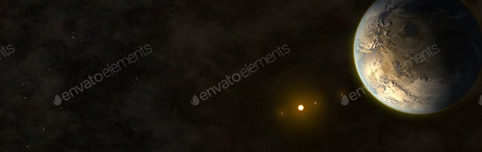 exoplanet in the outer space