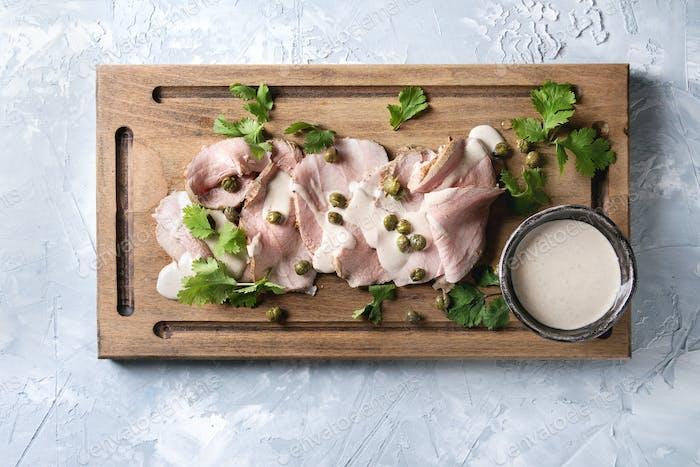 Veal with tuna sauce vitello tonnato