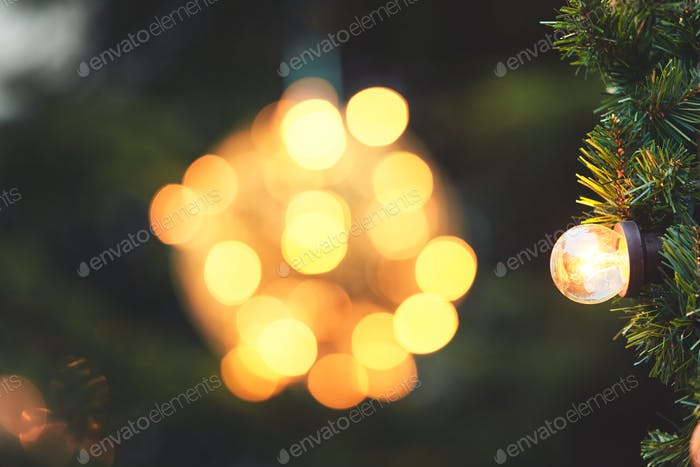 Bulb on the christmas tree