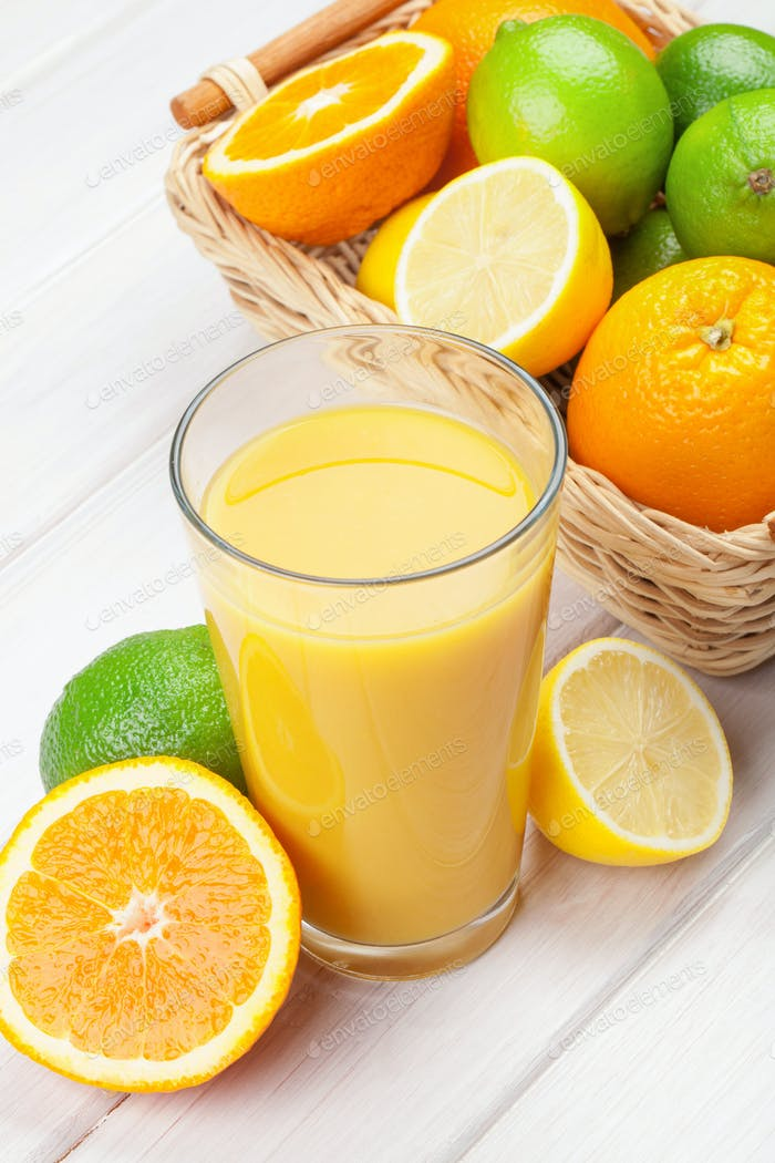 Orange juice and citrus fruits