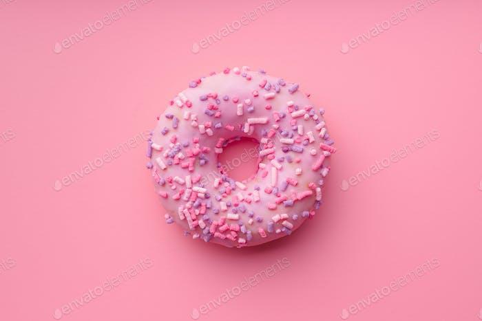 Pink sweet donut.
