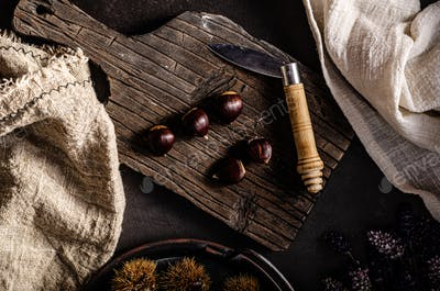 Chestnuts food photography