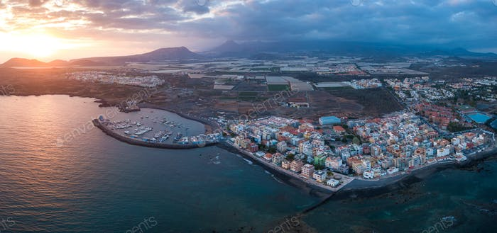 Thumbnail for View from the height of the city on the Atlantic coast. Tenerife