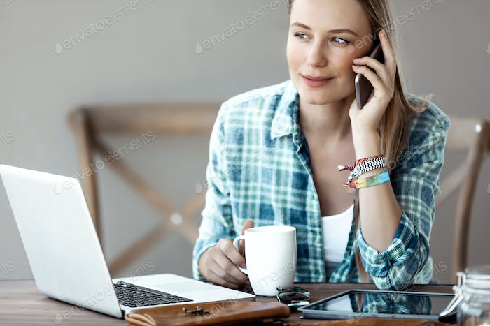 Young Woman At Work
