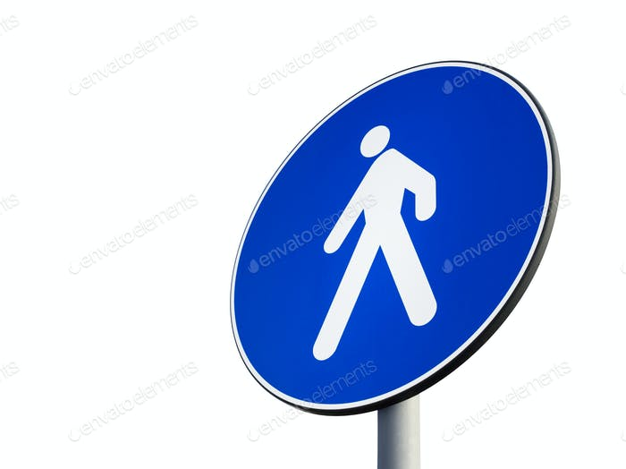 Signal of obligatory pedestrian path