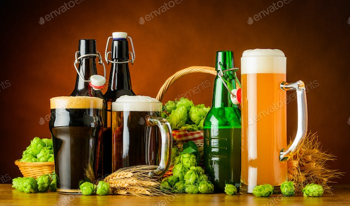Different Types of Beer and Brewing Ingredients