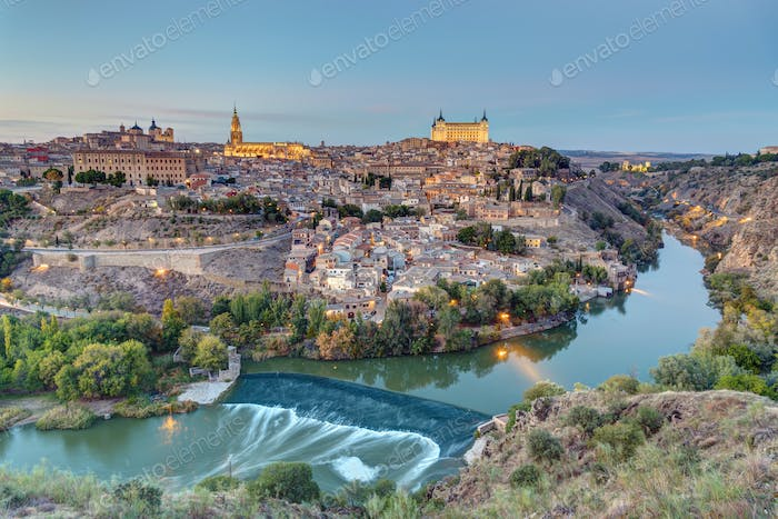 The old city of Toledo in Spain