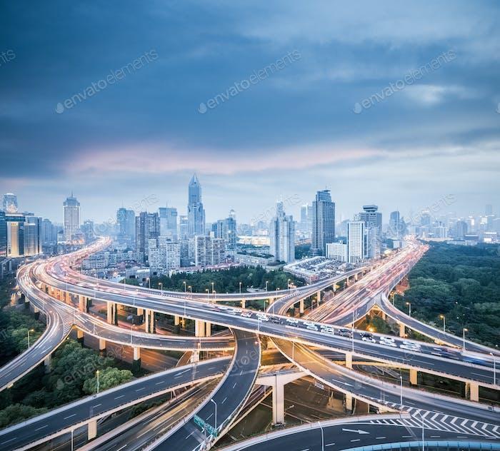 city interchange in shanghai