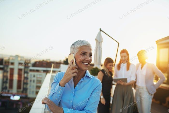 Conversación con clientes