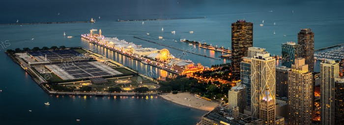 The Navy Pier at Night