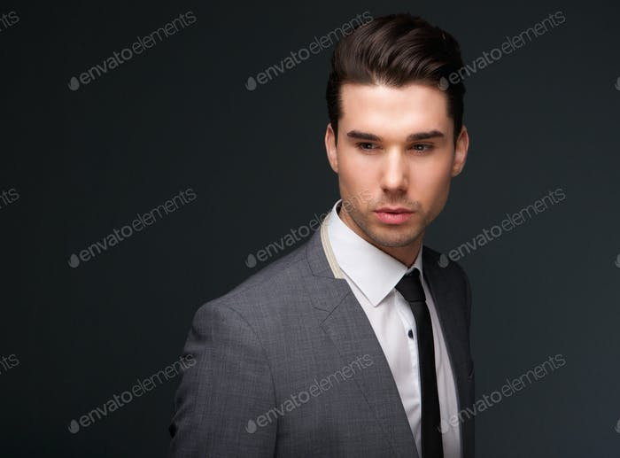 Handsome young man in business suit