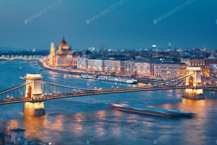 Budapest at twilight