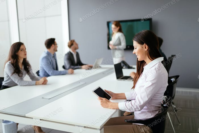 Business people conference in modern office