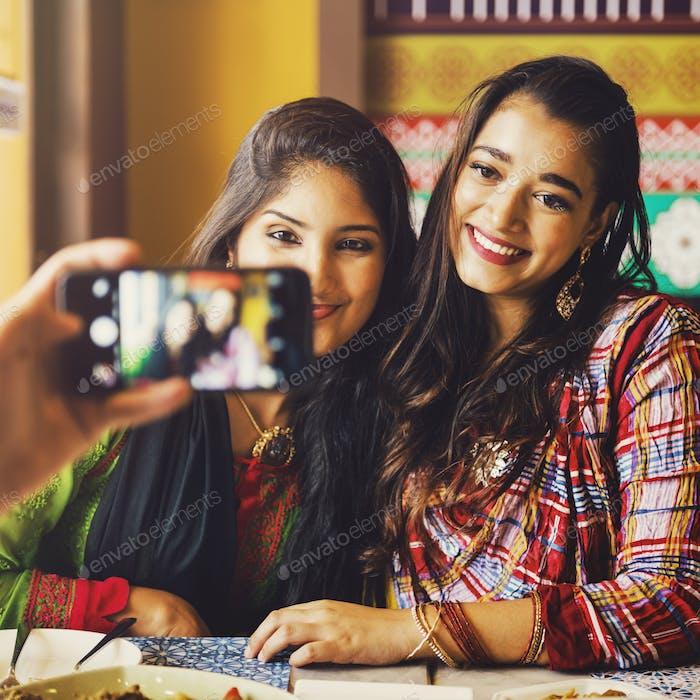 Indian Ethnicity Sister Girl Relationship Together Concept