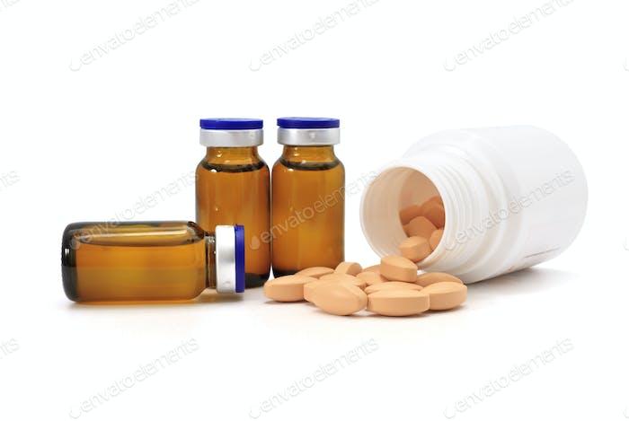 pills and medicine bottles